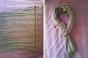 scarf width